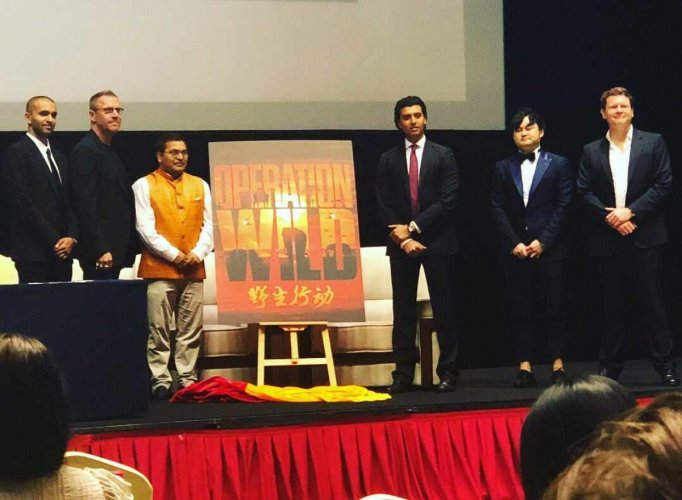 China-based Extraordinary Entertainment and India's B4U signed an agreement to co-produce the film -- 'Operation Wild', written by Brian Brightly. Image courtesy Twitter