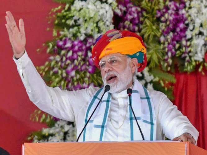 Prime Minister Narendra Modi on Friday said that to glorify one family, deliberate attempts were being made to belittle the contributions of other towering leaders in nation-building, as he paid rich tributes to Bharatiya Jana Sangh (BJS) founder Syama Prasad Mookerjee. PTI file photo