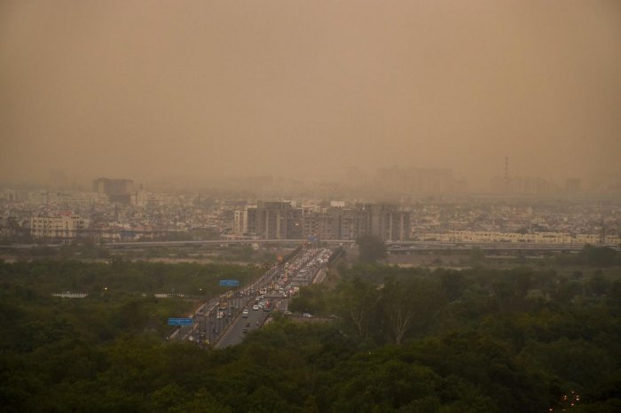 A view of a dust storm, in New Delhi. (PTI File Photo)
