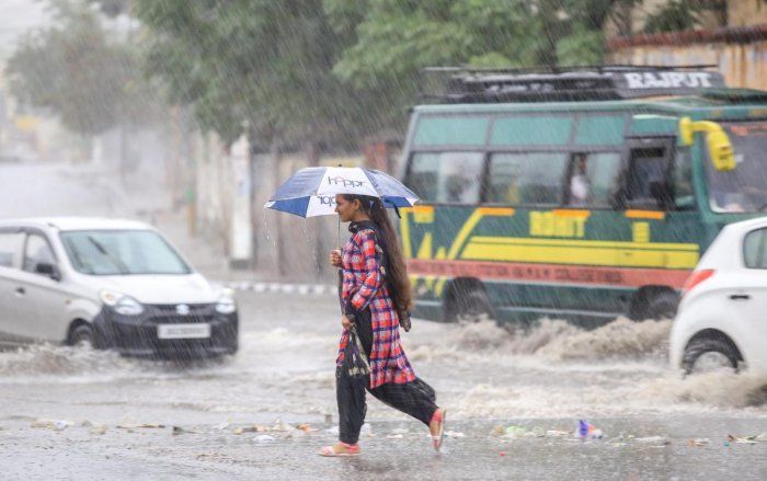 Many parts of Kashmir received heavy rains since early morning, an official of the Meteorological (MeT) department said. (PTI Photo)