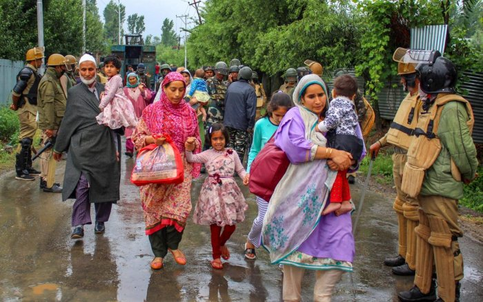 At least four persons were injured in clashes between stone-pelters and security forces today near an encounter site in Pulwama district where three alleged militants were reportedly trapped. PTI Photo