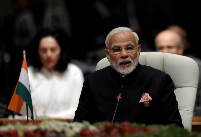 Indian Prime Minister Narendra Modi speaks during the BRICS Summit in Johannesburg, South Africa, July 26, 2018. REUTERS