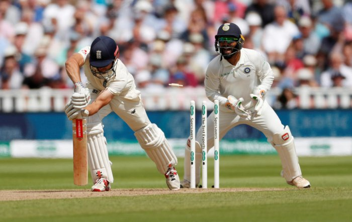 Alastair Cook is clean-bowled by R Ashwin on the first day of the first Test on Wednesday. Reuters