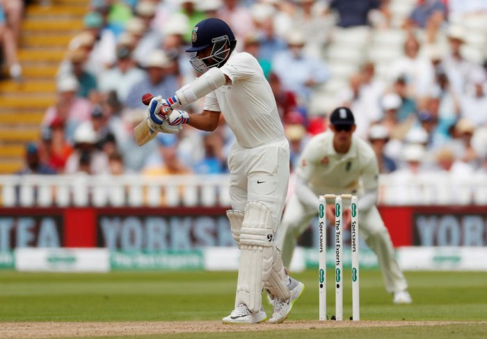 OUT OF SYNC: Ajinkya Rahane has often been dismissed against England while chasing the ball on the off and nicking it behind the wickets. Reuters