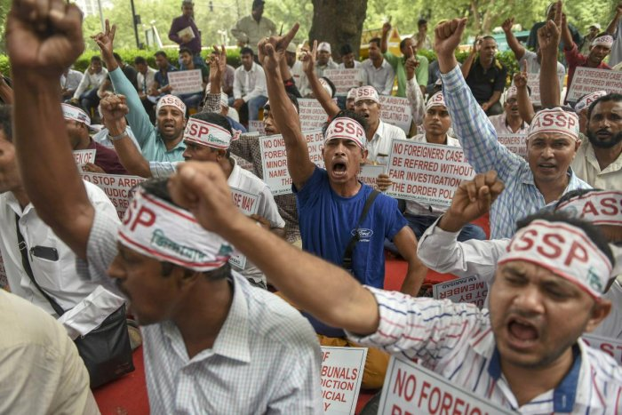 The issue of 40 lakh people, mostly Bengali-speaking Muslims, of Assam being left out of the draft NRC had triggered a political controversy.