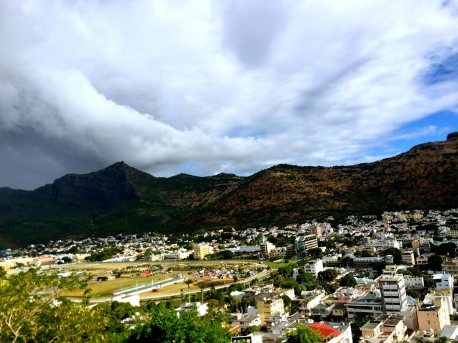 A view of Port Louis from Fort Adelaide