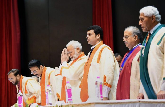 Prime Minister Narendra Modi attends the 56th Annual Convocation of Indian Institute of Technology, Bombay, in Mumbai. (PTI Photo)