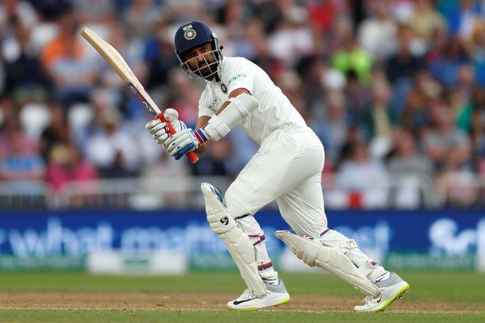 India's Cheteshwar Pujara in action batting Action Images. Reuters photo
