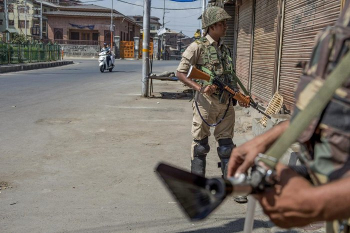 To maintain law and order, authorities had imposed restrictions in seven police station areas of Srinagar. (PTI Photo)