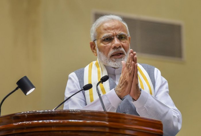 """Prime Minister Narendra Modi said Sunday calling for discipline these days is branded """"autocratic"""", as he praised Vice President and Rajya Sabha Chairman M Venkaiah Naidu for being a """"disciplinarian"""". PTI photo"""