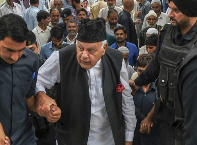 Farooq Abdullah. PTI Photo