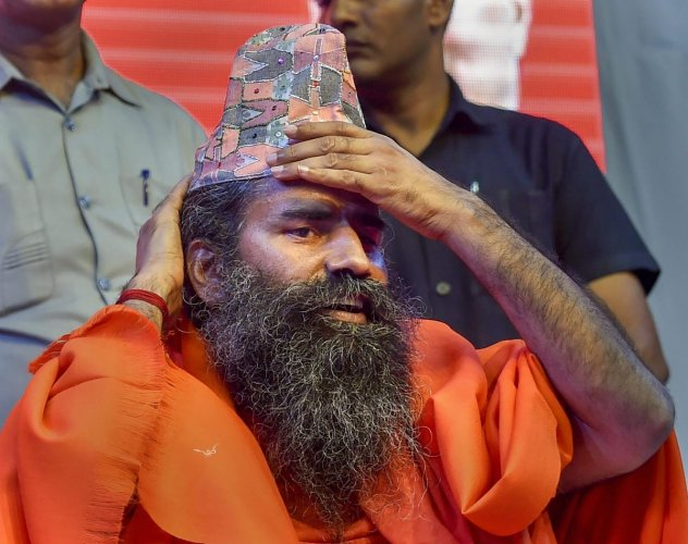 Ramdev also said he would not campaign for the BJP in the 2019 elections, unlike in 2014 when he actively worked in favour of Prime Minister Narendra Modi. (PTI File Photo)