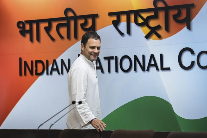 """Congress president Rahul Gandhi on Friday alleged that the CBI had aided fugitive tycoon Vijay Mallya's """"great escape"""" by changing the """"detain"""" notice to """"inform"""", adding that it was """"inconceivable"""" that this was done without Prime Minister Narendra Modi'"""