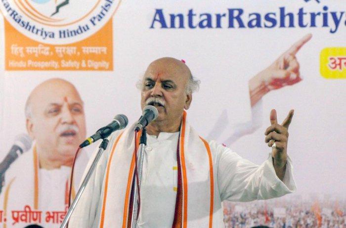 Antarrashtriya Hindu Parishad Chief Pravin Togadia. PTI Photo