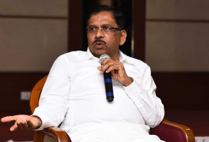"""There is a proposal to create two deputy chief ministers post. But no decision has been taken so far. Congress president Rahul Gandhi will take a call in this regard,"" KPCC president G Parameshwara told reporters after emerging from a meeting of senior party leaders. DH file photo"