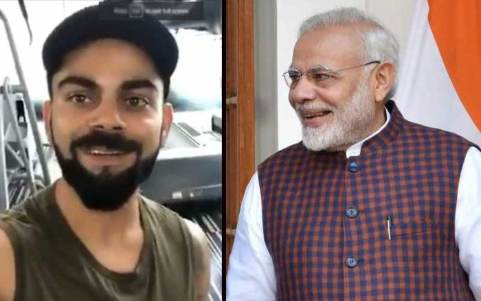Modi accepts the fitness challenge of Kohli. He said he would upload his video.