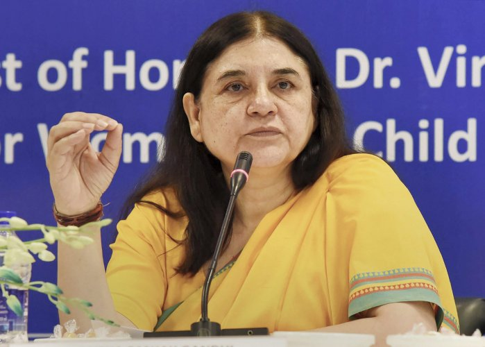 Minister of Women and Child Development Maneka Gandhi introduced the bill in the Lok Sabha. PTI file photo