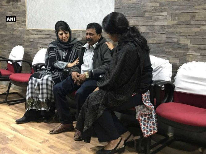 "Jammu and Kashmir Chief Minister Mehbooba Mufti today termed the death of a 22-year-old tourist whose vehicle was targeted by stone-pelters the ""murder of humanity"" and said the incident had rattled the mother in her. Picture courtesy ANI"