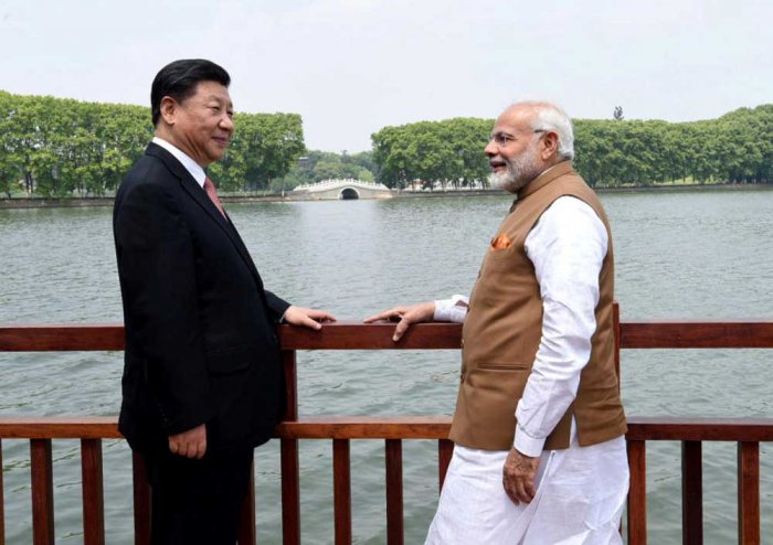 Chinese President Xi Jinping and Indian Prime Minister Narendra Modi during a bilateral meet in Wuhan, China. (Reuters)