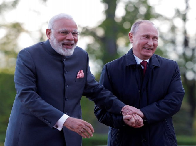 "Prime Minister Narendra Modi and Russian President Vladimir Putin will hold an ""informal summit"" at Sochi off the coast of Black Sea on May 21. Reuters file photo"