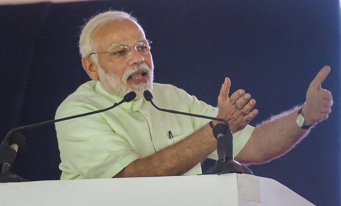 Prime Minister Narendra Modi said that out of the 10 crore connections, a total of four crore LPG connections were given free to women. PTI file photo