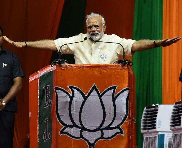 Modi will be addressing three rallies in the state tomorrow.