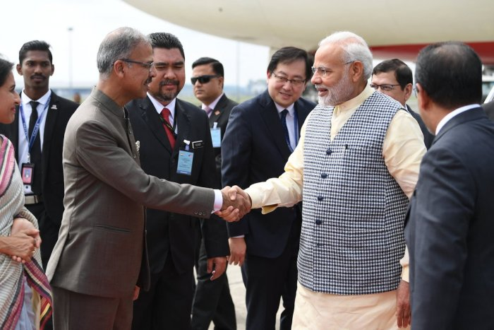Modi and Mahathir are expected to deliberate on ways to deepen bilateral relationship in a range of areas, including trade and investment. (Twitter/ PMO India)