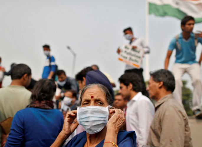 The WHO data also said that nine out of 10 people in the world breathe air containing high levels of pollutants. (Reuters file photo)