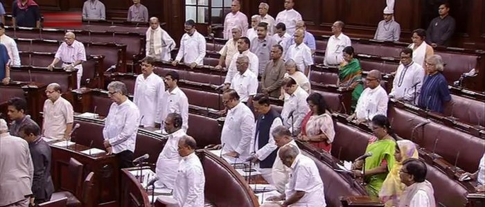 While Home Minister Rajnath Singh managed to speak in the Lok Sabha by responding to the concerns raised by MPs, he could not do so in the Rajya Sabha as Opposition parties, especially Trinamool Congress, protested seeking Modi's presence. PTI.