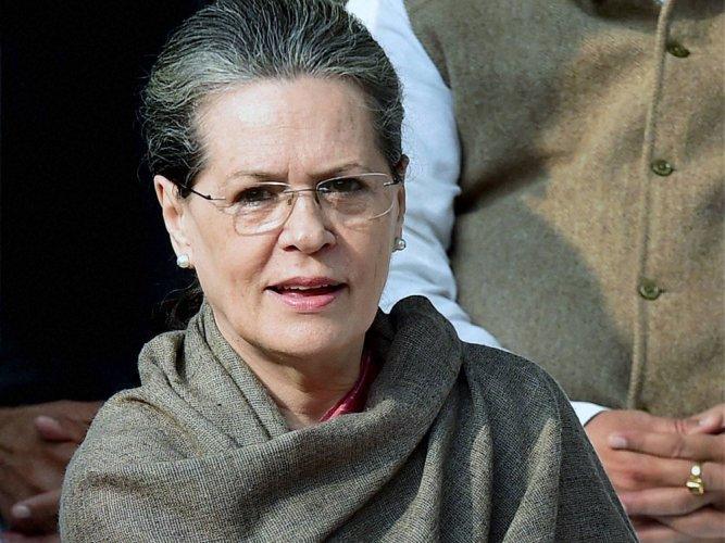 Former Congress president Sonia Gandhi. DH file photo