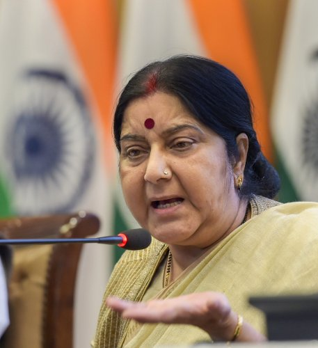 External Affairs Minister Sushma Swaraj said that New Delhi could hold talks with Islamabad even before the parliamentary elections in Pakistan, only if the latter stopped exporting terror to India and restrained its soldiers from flouting ceasefire along the Line of Control. PTI