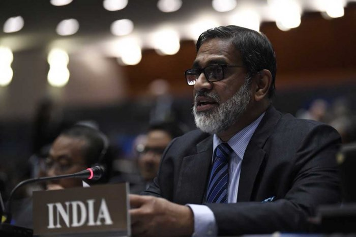 Venu Rajamony, Ambassador and Permanent Representative of India to OPCW. Photo credit:Twitter