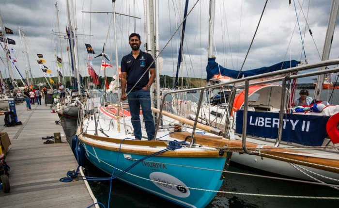 Indian Navy's Cdr Abhilash Tomy readies for second circumnavigation of the globe.