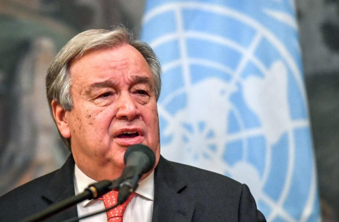 UN Secretary-General Antonio Guterres. AFP File
