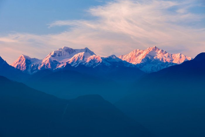 A view of Kangchenjunga from the Pelling viewpoint in Sikkim