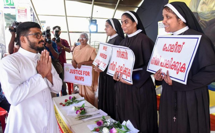 A nun belonging to the Syro Malabar Catholic church alleged she was asked to keep away from church duties after she participated in a protest by nuns in Kochi demanding the arrest of rape accused Bishop Franco Mulakkal. PTI file photo