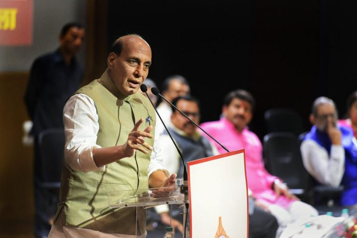 "Union Home Minister Rajnath Singh on Sunday launched the Centre's flagship Pradhan Mantri Jan Arogya Yojana PMJAY-Ayushman Bharat in the state capital, noting that it will prove to be a ""Modi kawach"" (Modi shield) for the poor. PTI file photo"