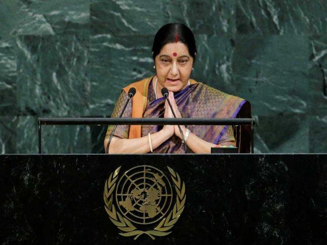 External Affairs Minister Sushma Swaraj. Reuters file photo.