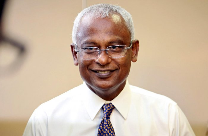 Maldivian joint opposition presidential candidate Ibrahim Mohamed Solih. REUTERS/Ashwa Faheem.