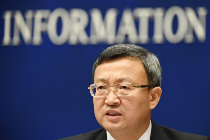China's Vice Minister of Commerce Wang Shouwen speaks at a press conference in Beijing. (AFP photo)