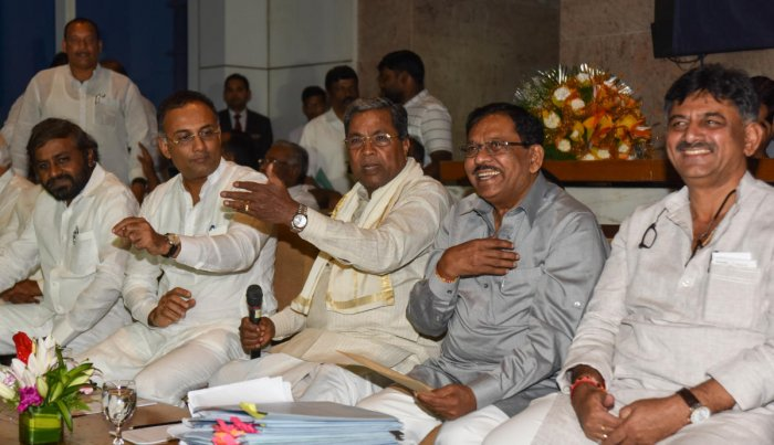 This was the central message at the Congress Legislature Party (CLP) meeting, amid disgruntlement among party legislators over the way the coalition functioned, in that they were unable to get any work done in the H D Kumaraswamy-led government. DH photo.