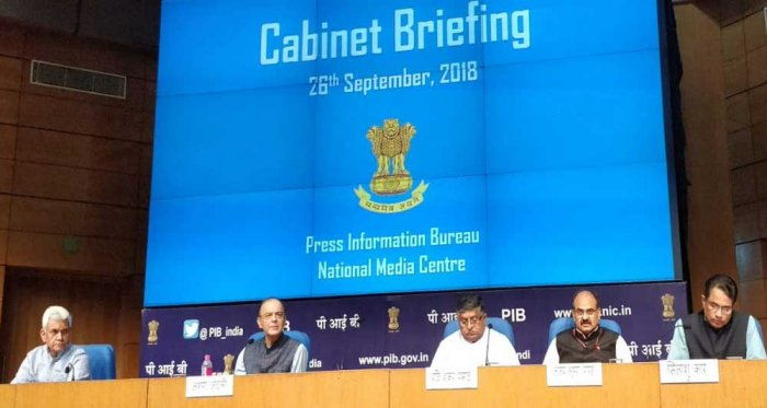 The Cabinet on Wednesday cleared a proposal to convert GST Network (GSTN) into a government-owned company, Finance Minister Arun Jaitley said. Picture courtesy Twitter