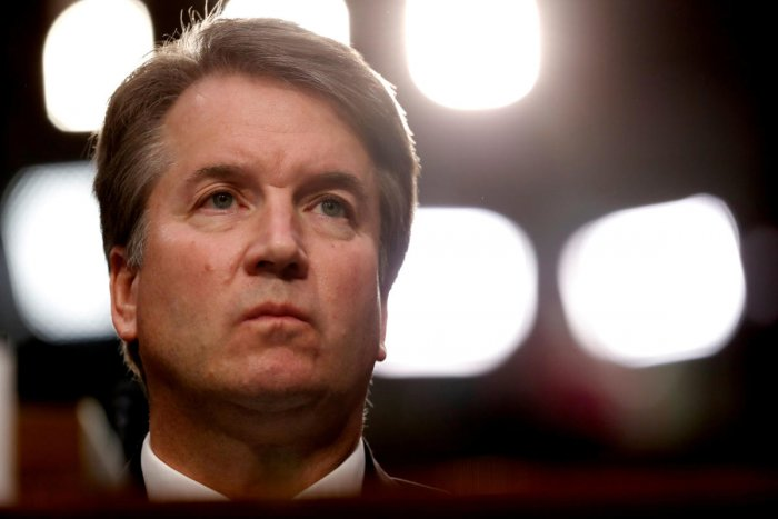US Supreme Court nominee Judge Brett Kavanaugh listens during his US Senate Judiciary Committee confirmation hearing on Capitol Hill in Washington on September 4, 2018. Reuters