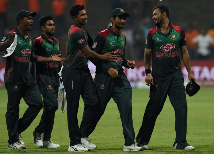 Having led his team into the final, Mashrafe Mortaza (right) will look to scalp India in the final for Bangladesh's maiden Asia Cup title. AFP
