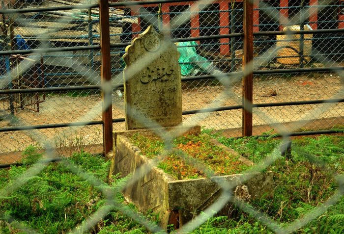 A grave inside the burial ground.