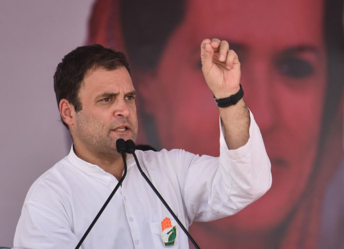 """""""I challenge him to a public debate. He won't last a second, because he has stolen from India,"""" Rahul Gandhi alleged. (DH File Photo)"""