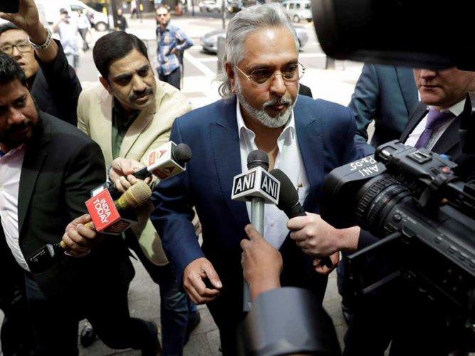 Vijay Mallya arrives in court. Credit: PTI file photo