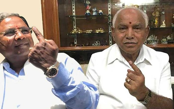 In picture: B S Yeddyurappa (BJP's chief ministerial candidate) and Karnataka CM Siddaramaiah.