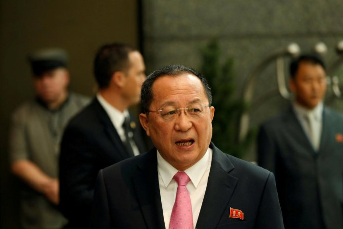 North Korean Foreign Minister Ri Yong-ho.(Reuters File Photo)