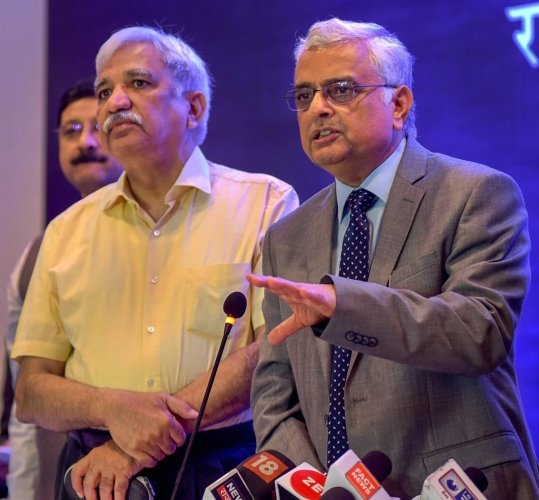 Chief Election Commissioner OP Rawat addreses a press conference at the end of his two-day visit to review preparations for the Rajasthan Assembly elections, in Jaipur, on Tuesday. PTI